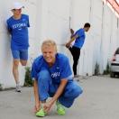 Markus Ellisaar, Marek Niit, Richard Pulst, Rasmus Rooks - 4x100 m meeskond soojendusel