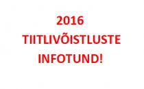2016 tiitlivõistluste koondiste kandidaatide INFOTUND toimub 2. juunil kell 14.00 Kadrioru Staadionil